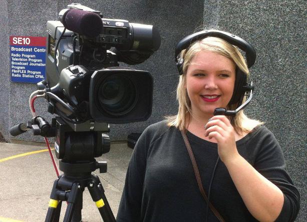 Filming at BCIT