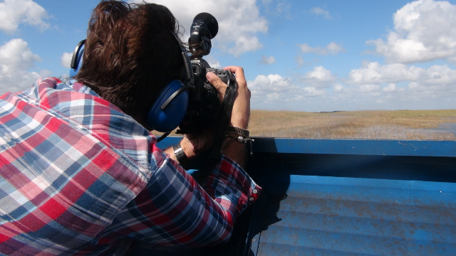 Filming in the Everglades