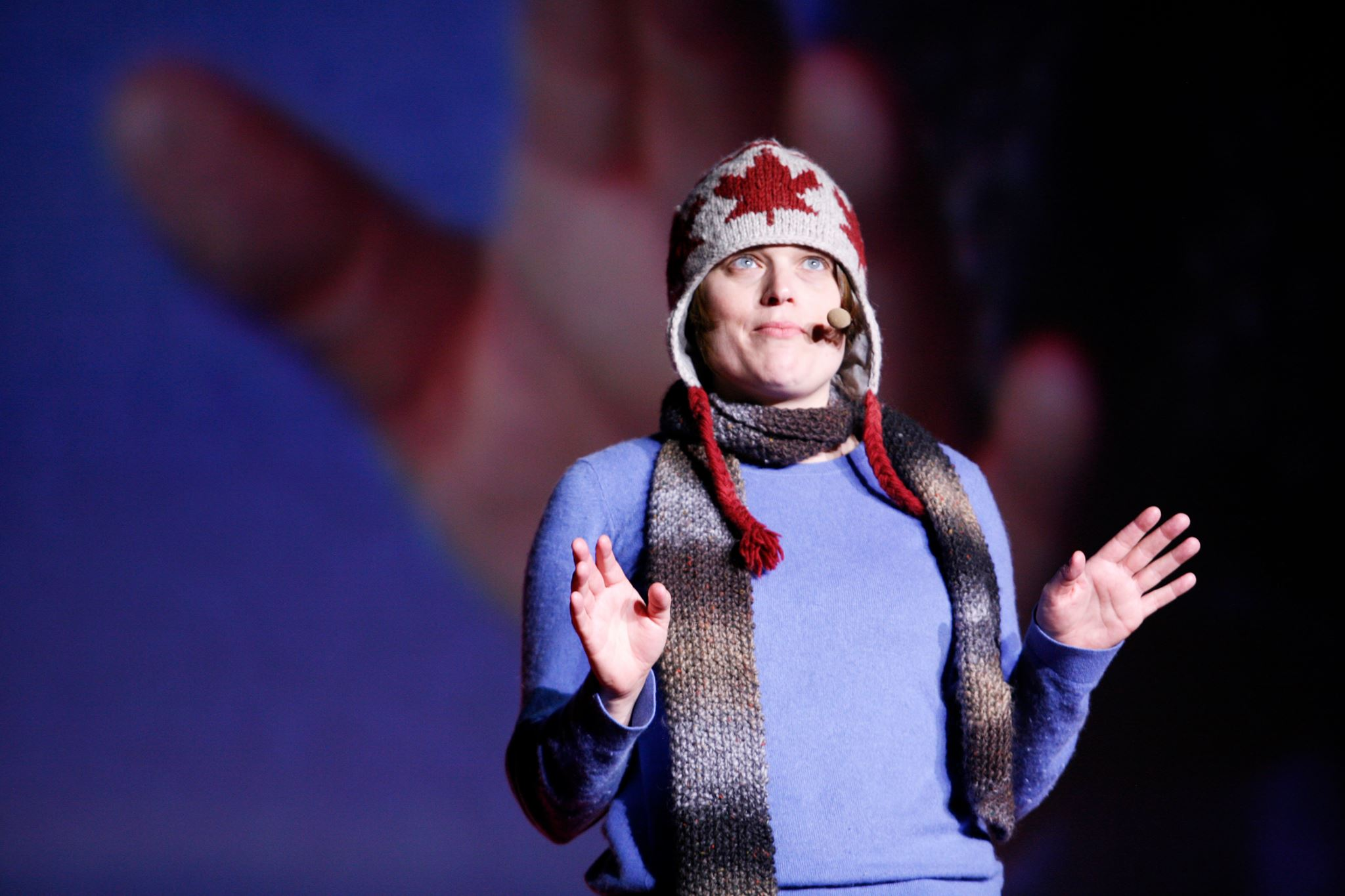 Erica Hargreave speaking at TEDxWarsaw